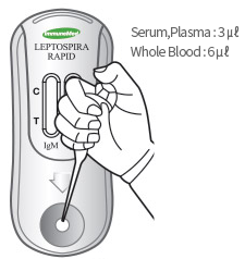 3 ㎕ of Serum or Plasma, or 6 ㎕ of Whole Blood is injected into the inlet.